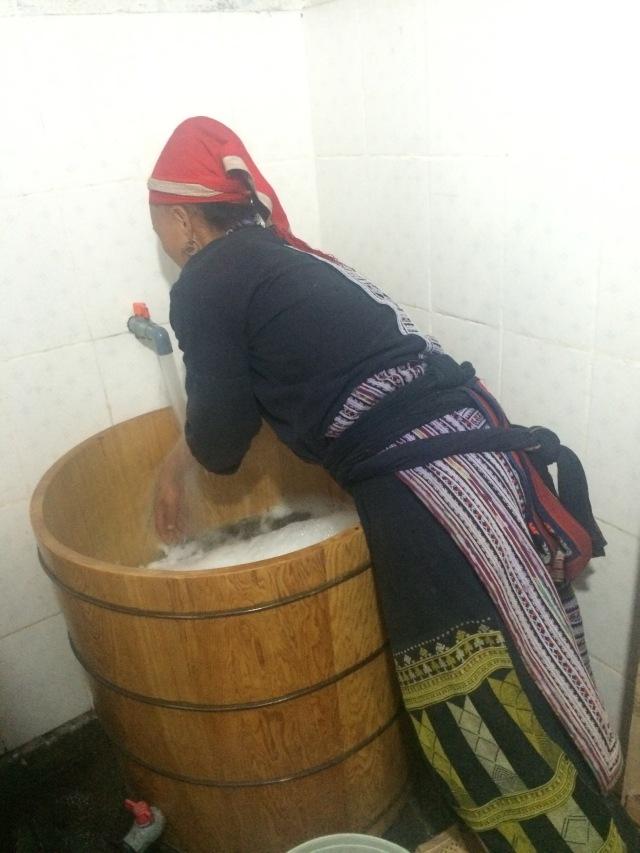 O barril em que tomei o banho de ervas